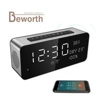 Sardine A10 Bluetooth Speaker 5000mAh Portable Alarm Clock MP3 Speakers 52mm Horn Big Sound Stereo USB FM Radio for Party