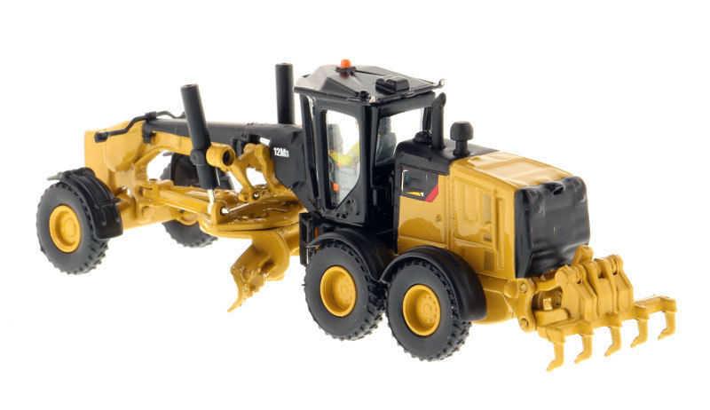 Koleksi Diecast Model Mobil DM 1: 87 Skala 12M3 Motor Grader-High Line Series 85520 Model Truk Mainan Anak Koleksi Hadiah