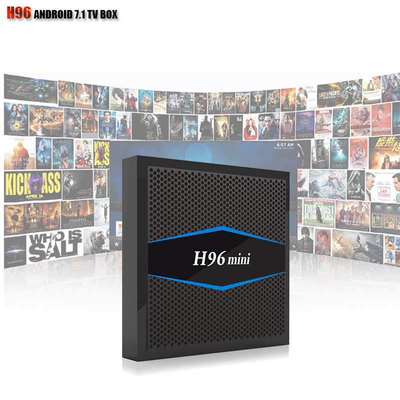H96 Mini Arabic IPTV 1 Year Android TV BOX Built-in Bluetooth 4.0 TV Box DDR3 2GB eMMc 16GB OS Android 7.1 IPTV BOX kii pro android 5 1 1 tv box built in 2 4g