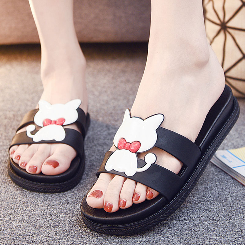 Bailehou Fashion Women Indoor Home Slippers Female Summer Beach slippers Non-slip Slippers Cartoon Cute Shoes Women Flip Flops 2