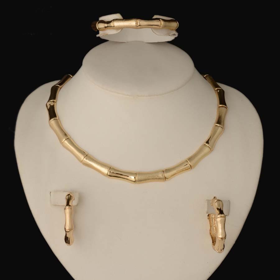 2018 HOT dubai Filled Women Party Jewelry Set Women Wedding Necklace Bracelet Earring Ring African Beads Jewelry Set