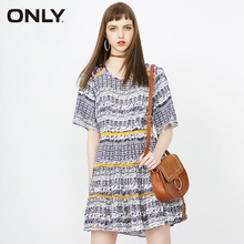 ONLY 2019 Spring & Summer Plaid Crochet Layered Dress |118207533 недорого