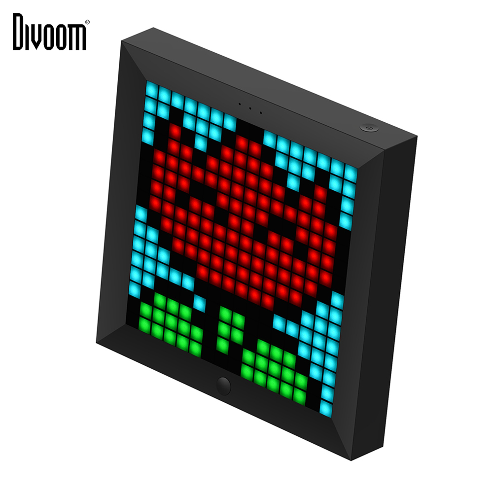 Divoom Pixoo pixel art bluetooth wireless LED digital panel clock Alarm suit for Android and IOS