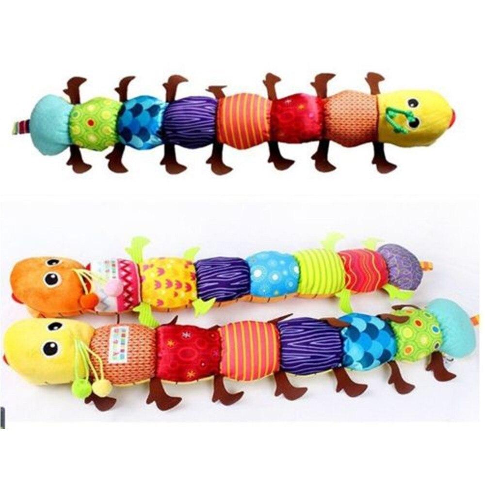 Teka Teki Bayi Musik Menenangkan Ulat Mainan Orange Kuning