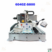 EUR free tax CNC lathe machine 6040Z-S800 mini cnc carving machine for metal, wood polywood with USB parallel port adapter