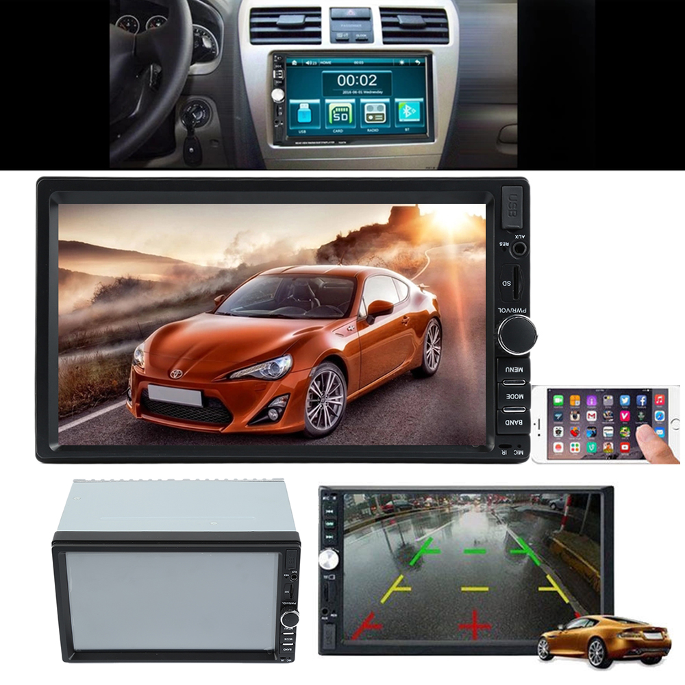 12V Touch Screen MP5 Player Liplasting 7 inch Car 12V Touch Screen GPS FM USB Radio Audio Stereo MP5 Player 2 Din ultra thin 7 touch screen lcd wince 6 0 gps navigator w fm internal 4gb america map light blue