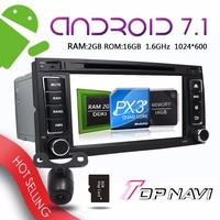 TOPNAVI 7'' Android 7.1 Car GPS Navigation for VW Touager Multivan Auto Buit in TV Box Free Map Update Bluetooth Wifi Players