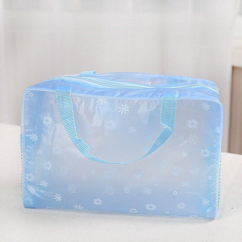 Водонепроницаемая косметичка для мытья ванной сумка для приемов путешествий многофункциональная косметическая сумка для приемов - Цвет: blue