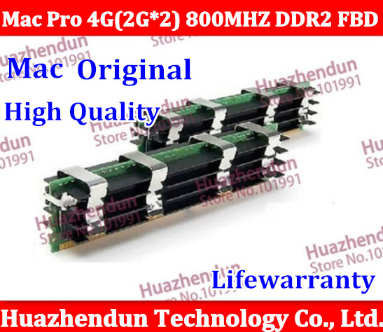 MacPro  Original memory  Pro 1,1 2,1 3.1 MEMORY DDR2 800Mhz FB-Dimm 4GB (2GBx2) DDR2 PC2-6400 ECC DDR2-800 4gb pc2 5300s ddr2 667 667mhz ddr2 laptop memory cl5 0 sodimm notebook ram non ecc 200pin 2rx16 low density
