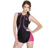Swimwear Women One Piece Swimsuit Plus Size Zipper Swimming Bodysuit Thin Bra With Hot Spring Bathing