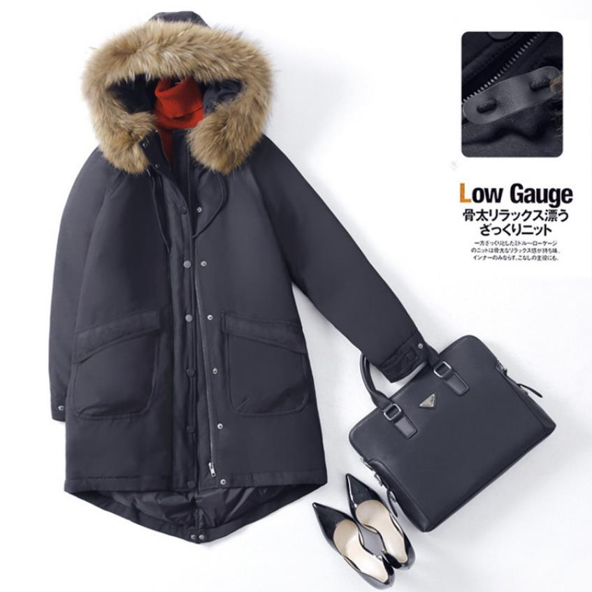 90% goose   down     coat   fashion brand quality   down   jacket female natural fur hooded thicker warm   down     coat   wq710 fit -30 winter