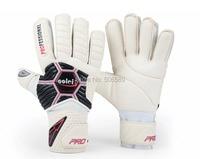 free shipping adult's goal keeper gloves white black color No 8 ja388 full emulsion