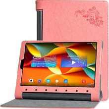 ocube Folio Stand Flower Printing Sample PU Leather-based Case Cowl For Lenovo Yoga Pill Tab Three Professional 10 X90 YT3-X90F X90M/L 10.1″