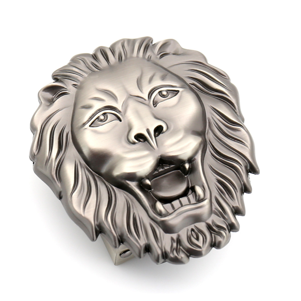 3.5cm Brand Luxury Men's Belt Buckle Men Lion Animal Automatic Buckle Designer Leather Belt Buckle Waistband BucklesCE55-3065