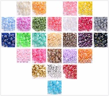 Mixed 3mm 4mm 5mm 6mm 8mm 10mm 1000pcs AB Color Half Round Acrylic Imitation Flatback Pearl Beads for Jewelry /Nail Art /Phone