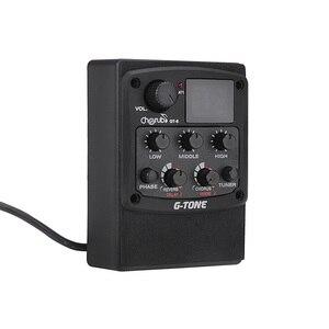 Image 3 - Cherub GT 6 guitarra acústica preamp piezo captador 3 band eq equalizador lcd sintonizador com reverb/atraso/coro/largo