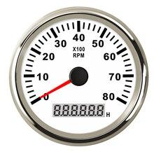 8 k Barco Marinha Tacômetro Tacho Medidor LCD Medidor Horímetro 12 v/v 8000 rpm 24 85mm Barco tacômetro