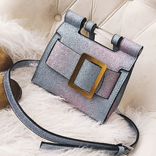 ETAILL 2018 Big Buckle Glitter Blink Small Shoulder Bag Women Sequins Pu Leather Crossbody Bag Fashion Flap Party Messenger Bag