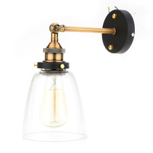 Vintage E27 Glass Wall Sconces Lamps Retro Wall Mounted Led Light Bedroom Stair Mirror Lamps Lampada Led Christmas Tomshine(China)