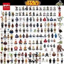 Sale Chewbacca Star Wars Building Blocks HanSolo Anakin Darth Vader Yoda Jar Jar Leia Toys Compatible legoED starwars figure Y30