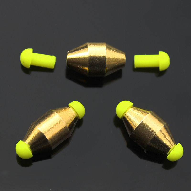 Lot 5 Pieces Accessories For Fishing Copper Weight Down Sinker Water Bronze Materials Float Balancer Gold Color