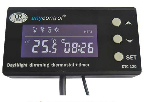 Aqua Reptile Timing Thermostat PID Heating Plus Two Time Period Timing And Day/night Temperature DTC-120