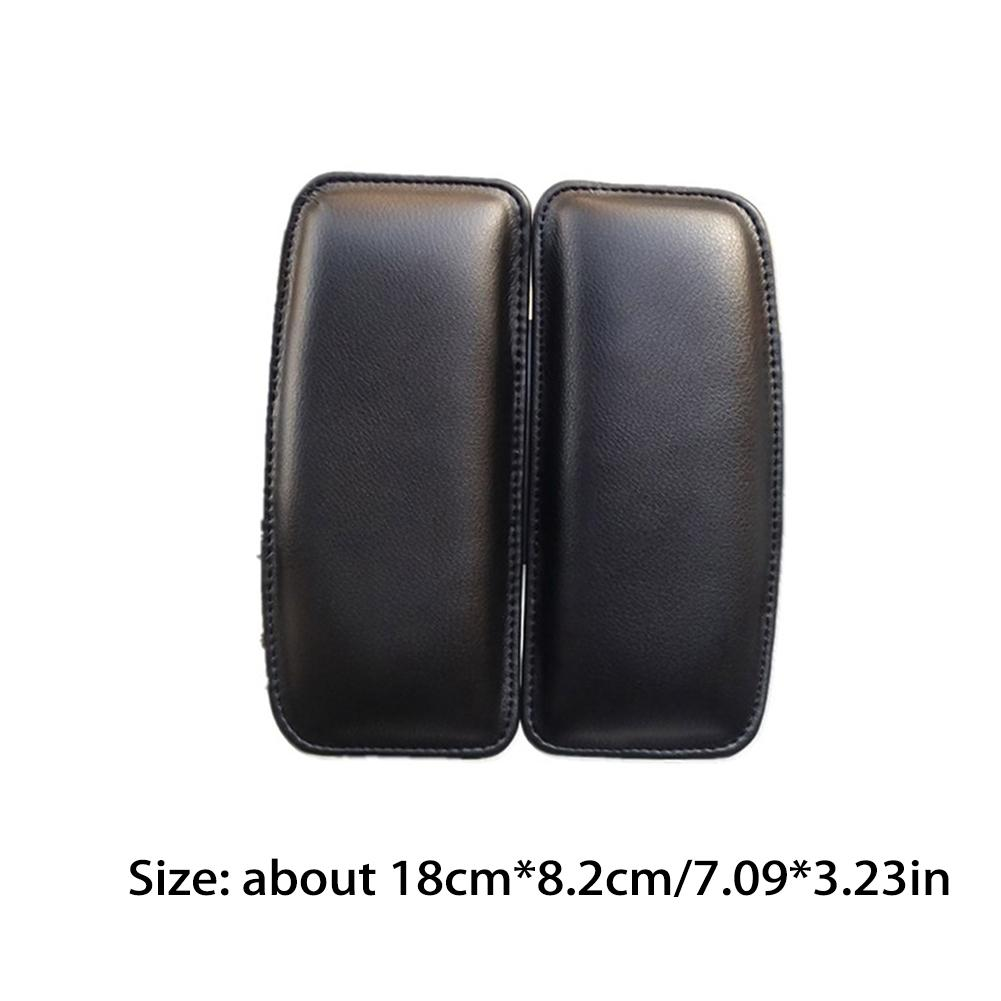 Black Car Leg Pad Knee Support Door Control Soft Leather Breathable Foot Cushion Relieve Fatigue Interior Protect Accessories