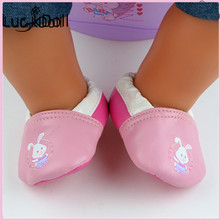 luck dollCute Pink Doll Shoes Fit 43cm Doll Baby Born Zapf Doll Accessories Doll Shoes For Baby Girl's  Birthsday Gift b688