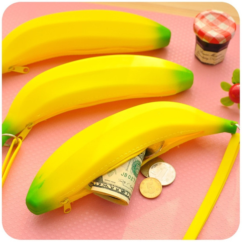 Home Storage & Organization Lower Price with New High Quality Unisex Men Women Novelty Silicone Portable Banana Coin Pencil Case Purse Bag Socks Organizer Bags Bins O10#n Good For Energy And The Spleen