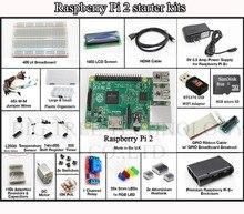 2015 Starter kit-breadboard Raspberry Pi 3 Modelo B/pi negro caso/1602 LCD/WIFI adaptador/del motor de paso/fuente de alimentación