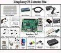 2015 Raspberry Pi 3 Modelo B Starter kit-placa de ensaio/pi preto case/1602 LCD/adaptador WI-FI/motor de passo/fonte de alimentação