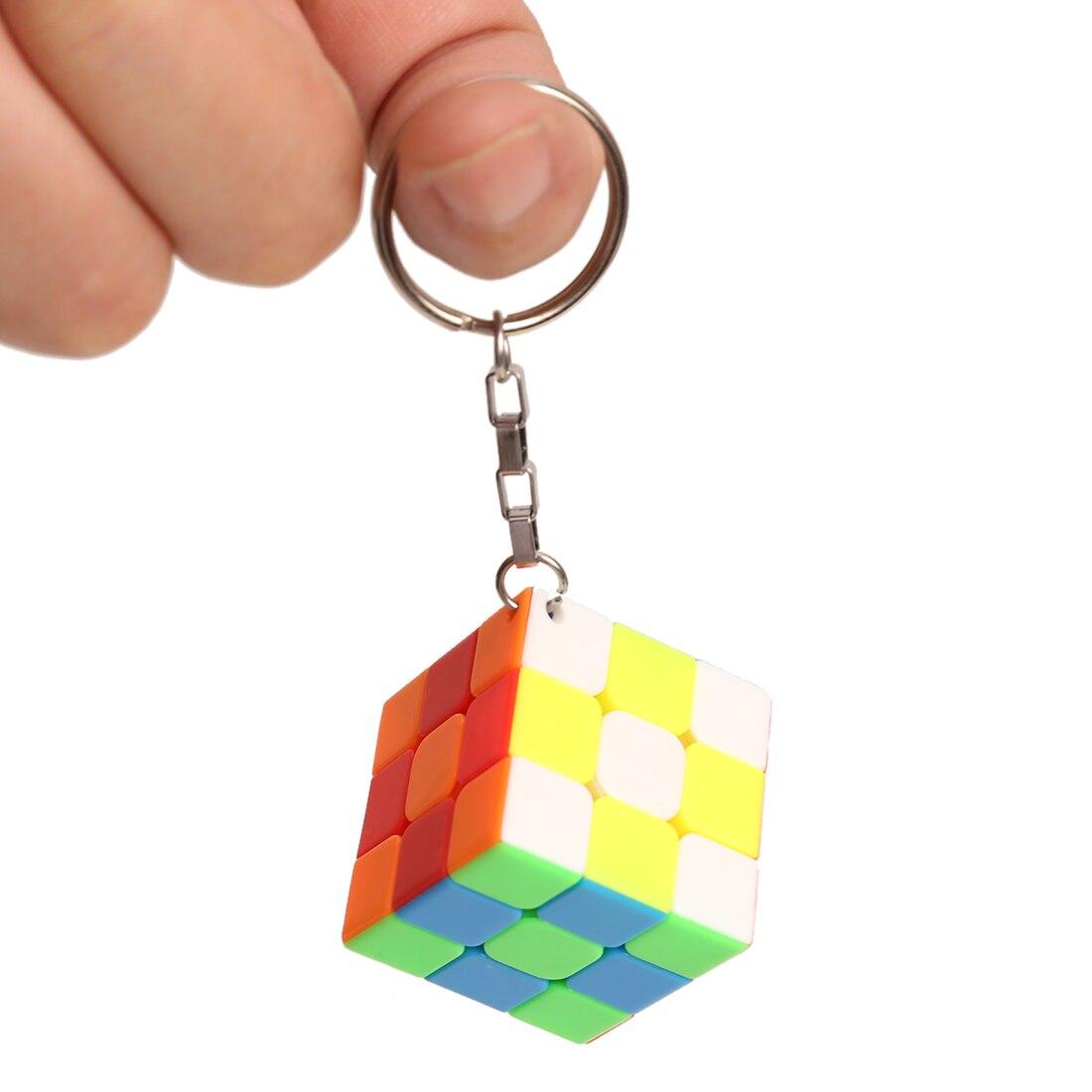 Z Key Chain Mini 3x3 Magic Cube Creative Cube Hang Decorations - Colorful ленинград