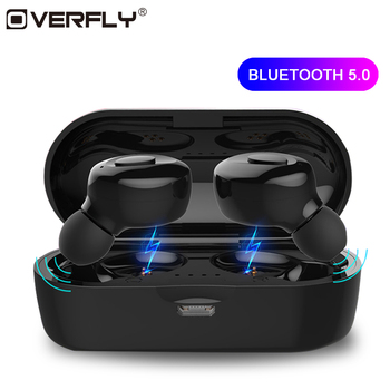 Overfly Bluetooth Earphones 5.0 TWS Wireless Headphones Bluetooth Earphone Handsfree Headphone Sports Earbuds Gaming Headset