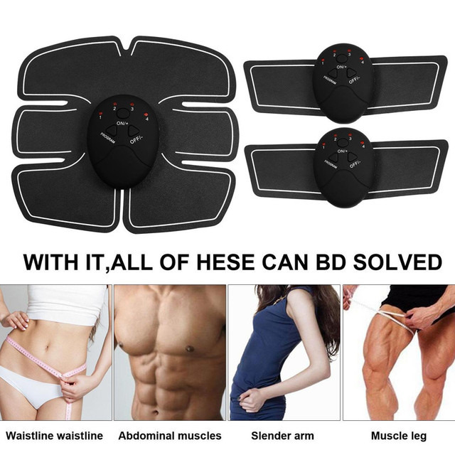 Smart EMS Electric Pulse Treatment Massager Abdominal Muscle Stimulator Hips Muscle Stimulator Replacement  Gel Pads 5