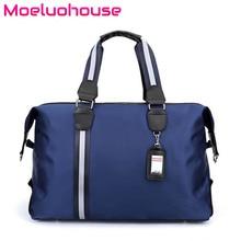 цена на Moeluohouse Men Duffle Travel Bag Luggage Messenger Crossbody Shoulder Handbag Tote Stripe Nylon Large Capacity
