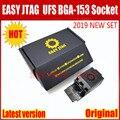 2019 más nuevo ORIGINAL de fácil-Jtag más UFS BGA-153 adaptador de enchufe con fácil JTAG más trabajo de caja