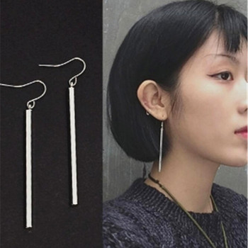 Fashion Gold Color Punk Simple Bar Earrings Long Stick Studs Earrings For Women Silver color Jewelry Geometry Brincos Bijoux 1
