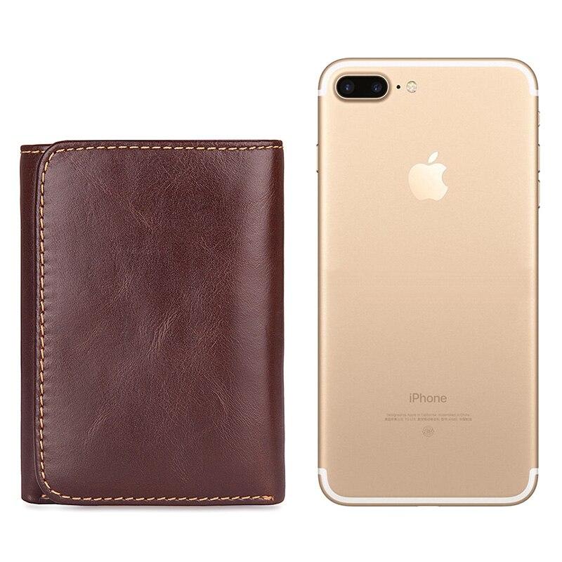 J.M.D Men's Genuine Leather Credit Card Holder Wallet