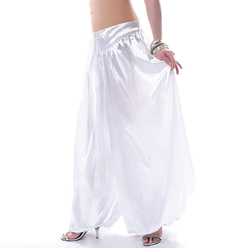 Image 2 - Hot sale ATS Tribal Belly dance Pants New Fashion Costume bellydance pants Bellydancing satin bloomers Dance Pantaloons 9002bloomers womencostume wolfcostumes cleopatra -