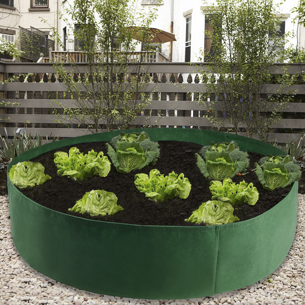 Garden Felt Grow Bag Green Planter Gardening Flower Extra Large Raised Planting Bed Seedling Nursery Grow Bags Growing Pot