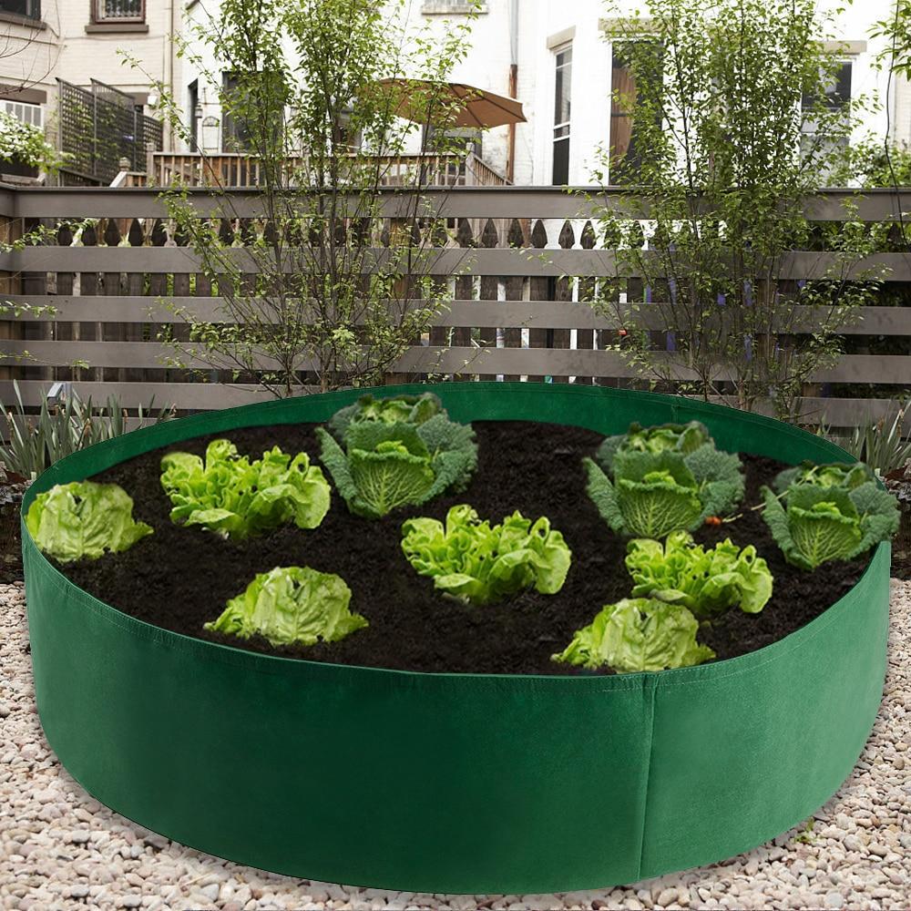 Garden Felt Grow Bag Green Planter Gardening Flower Extra Large Raised Planting Bed Seedling Nursery Grow Bags Growing Pot