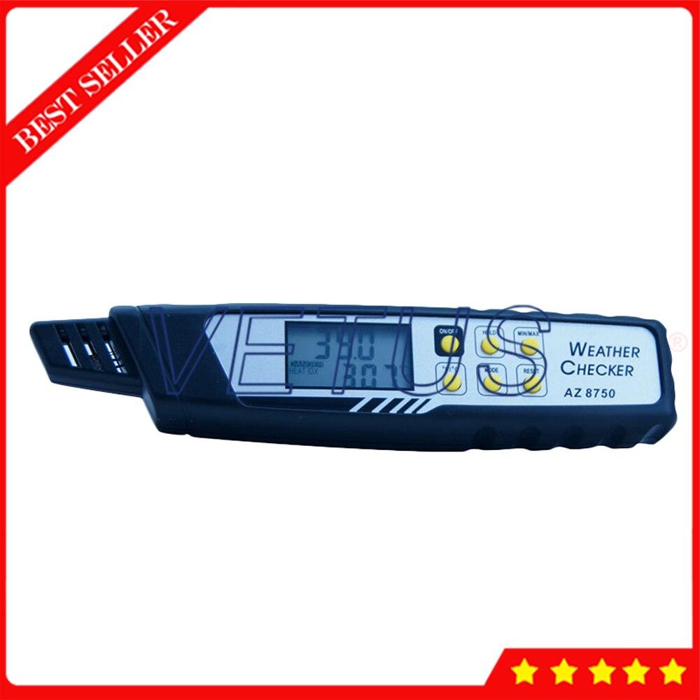 AZ8750 Digital Pen type Heat Index Meter Heat Stroke Preventer With Heat Index Temp Dew Point Humidity DisplayAZ8750 Digital Pen type Heat Index Meter Heat Stroke Preventer With Heat Index Temp Dew Point Humidity Display