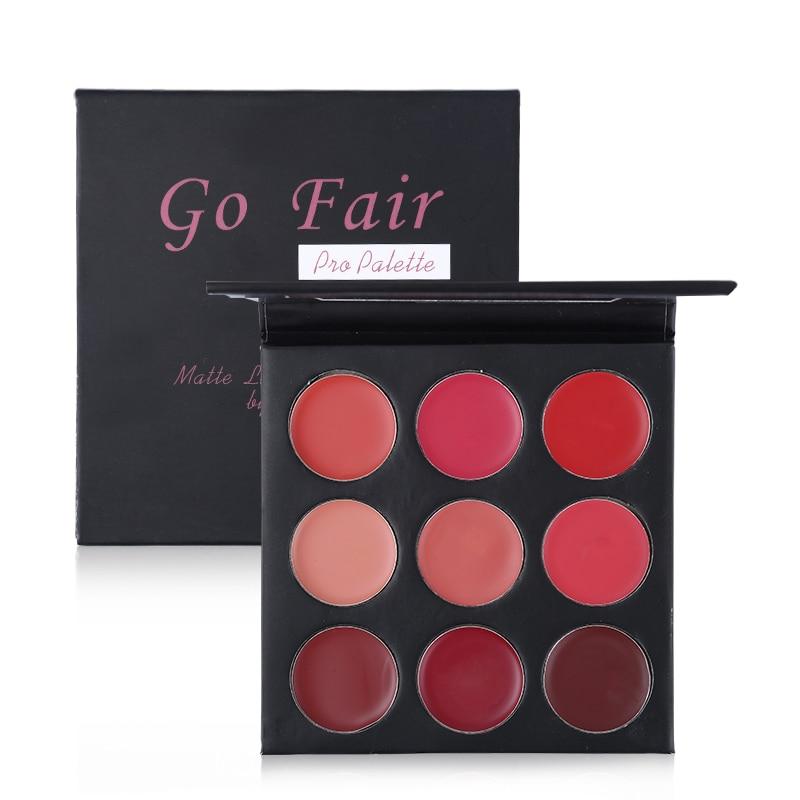 Matte Lipstick Palette 9Color Lip Stick Cream Waterproof Nude Batom Moisturizer Rouge Maquiagem Red Rose Beauty Makeup Set все цены