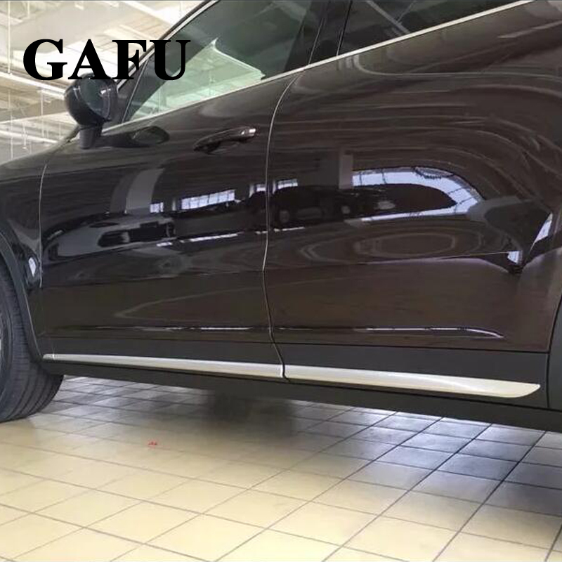 For Porsche Cayenne 2018 ABS Car Body Scuff Strip Side Door Molding Streamer Cover Trim Car Accessories stainless steel door side body garnish molding cover trim for toyota rav4 2014 2017 exterior decor strip car styling accessories