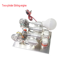 Stirling engine model miniature external combustion cycle toy extracurricular homework production lighting brain artifact