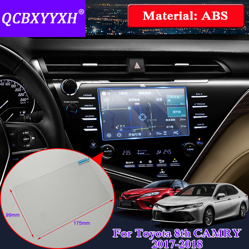 QCBXYYXH For Toyota Camry 2017 2018 Car Sticker GPS Navigation Screen Glass Protective Film Control of LCD Screen Car Styling