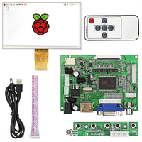 7 inch Raspberry Pi 3 LCD Display 1024 600 TFT Monitor Screen with Drive Board HDMI
