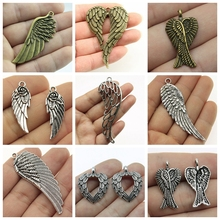 Mix Angel Wings Charms For Jewelry Making Diy Craft Supplies Wing Charm Heart Handmade Accessories