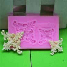 4YANG 2 Holes European Relief Silicone Mold Fondant Cake Decorating DIY Tools Chocolate Embossing Stencil Para Reposteria Mould
