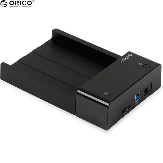 ORICO 6518SUS3 Material Plástico ABS Caja de Disco Duro USB 3.0 Caja de Disco Duro Compatible con 2.5 y 3.5 Pulgadas HDD/SSD